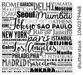 the largest cities in the world ... | Shutterstock .eps vector #1060379468