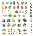 isometric vector icons set for... | Shutterstock .eps vector #1060383065