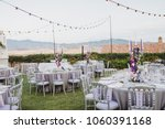 in the wedding banquet area on... | Shutterstock . vector #1060391168