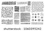 vector set of grungy hand drawn ... | Shutterstock .eps vector #1060395242