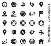 flat vector icon set   compass... | Shutterstock .eps vector #1060402025