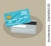 credit card front and back view ... | Shutterstock .eps vector #1060406135