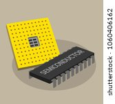 cpu and semiconductor  business ... | Shutterstock .eps vector #1060406162