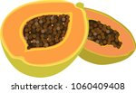 papaya vector illustration... | Shutterstock .eps vector #1060409408