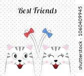 a beautiful two cartoon cute... | Shutterstock .eps vector #1060409945
