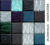seamless leather patchwork... | Shutterstock . vector #1060410086