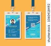 modern creative id card template | Shutterstock .eps vector #1060418492