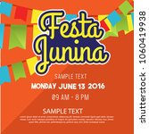 festa junina square template   Shutterstock .eps vector #1060419938