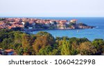 maritime town sozopol  bulgaria. | Shutterstock . vector #1060422998