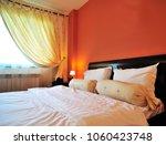 elegant matrimonial twin bed.... | Shutterstock . vector #1060423748