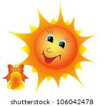illustration of a cartoon sun... | Shutterstock . vector #106042478