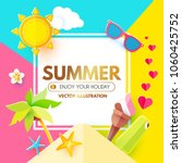 summer background with sweet... | Shutterstock .eps vector #1060425752