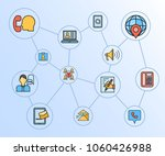 contact and communication... | Shutterstock .eps vector #1060426988