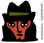 detective with hat | Shutterstock .eps vector #1060430195