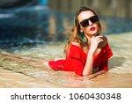 summer lifestyle fashion... | Shutterstock . vector #1060430348