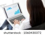 closeup business woman work... | Shutterstock . vector #1060430372