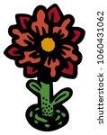 big flower icon  | Shutterstock .eps vector #1060431062