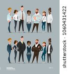 business characters collection...   Shutterstock .eps vector #1060431422