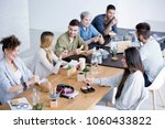 happy and relaxed group of...   Shutterstock . vector #1060433822