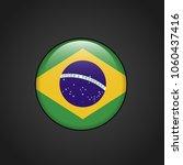brazil flag design vector  | Shutterstock .eps vector #1060437416