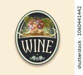 vector vintage label with bunch ... | Shutterstock .eps vector #1060441442