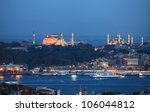 hagia sohia and blue mosque in...   Shutterstock . vector #106044812