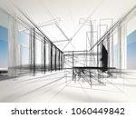 sketch design of interior hall  ... | Shutterstock . vector #1060449842