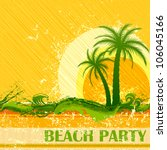 vector illustration of beach... | Shutterstock .eps vector #106045166