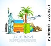vector illustration of world... | Shutterstock .eps vector #106045175