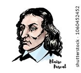 blaise pascal watercolor vector ... | Shutterstock .eps vector #1060452452