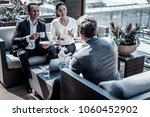 informal meeting. positive... | Shutterstock . vector #1060452902