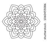simple flowers mandala easy for ... | Shutterstock .eps vector #1060455086