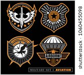 set of military and army badge... | Shutterstock .eps vector #1060455098