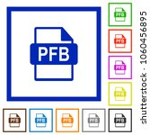 pfb file format flat color... | Shutterstock .eps vector #1060456895