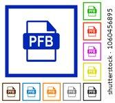 pfb file format flat color... | Shutterstock .eps vector #1060456895