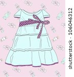 fashionable dress for the girl | Shutterstock . vector #106046312