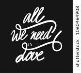 calligraphic all we need is...   Shutterstock .eps vector #1060464908