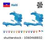 haiti   high detailed map with... | Shutterstock .eps vector #1060468832