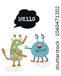 hello   funny nursery poster...   Shutterstock .eps vector #1060471202