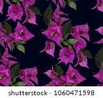 pink bougainvillea seamless... | Shutterstock .eps vector #1060471598
