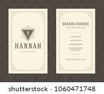 luxury business card and... | Shutterstock .eps vector #1060471748