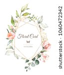 vintage card  watercolor... | Shutterstock . vector #1060472342