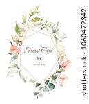 vintage card  watercolor... | Shutterstock . vector #1060472342