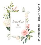 vintage card  watercolor... | Shutterstock . vector #1060472345