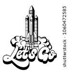 let's go. vector handwritten... | Shutterstock .eps vector #1060472585