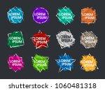 set grunge splash banners.... | Shutterstock .eps vector #1060481318