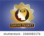 golden emblem or badge with... | Shutterstock .eps vector #1060482176