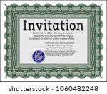 green retro invitation.... | Shutterstock .eps vector #1060482248
