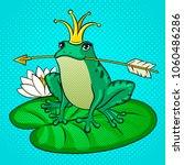 princess frog fairy tale animal ... | Shutterstock .eps vector #1060486286