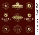 luxury logos templates set ...   Shutterstock .eps vector #1060493705
